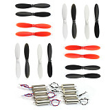 2S 7.4V 8520 Upgraded 8.5x20mm Mini Coreless Motor 2 set+ Hubsan H107-A02 Propeller 4 Set