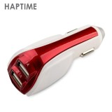 S13118/9 HAPTIME YGH395 Portable Dual USB Car Chargers ABS Travel Car Dual USB Charger