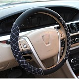 1pc PU Leather Anti-slip Car Steering Wheel Cover Cap Handlebar Grip