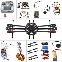 Full Set Helicopter Drone 6-axle Aircraft Kit Tarot 680PRO Frame 700KV Motor GPS APM 2.8 Flight Control AT10Transmitter