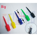 5 colors 56MM Large SMD IC Single Hook Clip Grabbers Test Probe cable For multimeter wire lead