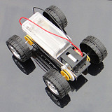 Self assembly DIY Mini Battery Powered Metal Car Model Kit 12*8cm 4WD Smart Robot Car Tank Chassis RC Toy
