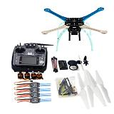 DIY GPS Drone S500-PCB Multi-Rotor Frame Full Kit APM2.8 2.4G AT10 TX&RX Motor ESC NO Battery Charger