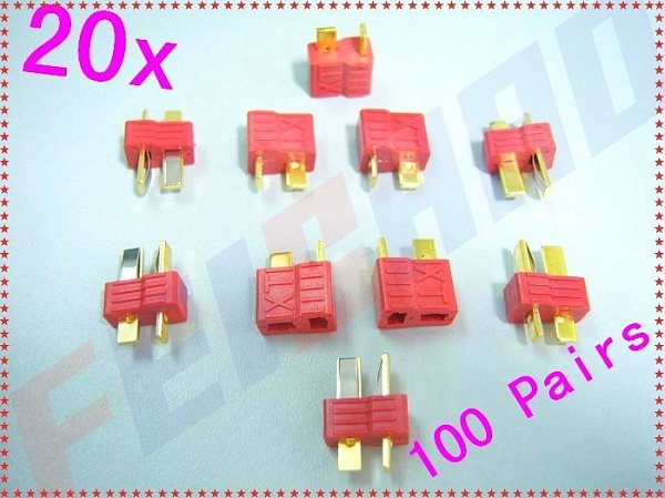 F01717-100,100 Pairs Dean Connector XT plug T plug For ESC Battery