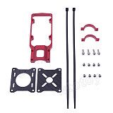 CNC Aluminum Alloy Motor Mounting Holder Bracket 20mm Red for RC Multicopter Carbon Tube