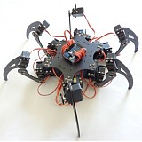 18DOF Aluminium Hexapod Robotic Spider Six Legs Robot Frame Kit