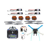 QQ Super Flight Controller Multicopter 500mm Multi-Rotor 700KV Motor 30A ESC 6CH 9CH Transmitter NO Battery Charger F081