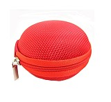 Round Portable Mini Earphone Carrying Hard Case Bag / Data Cable Pouch for Earphone Headphone SD TF Cards Cable Cord Wi