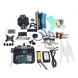 Full Set RC Drone Quadrocopter 4-axis Aircraft Kit 500mm Multi-Rotor Air Frame 6M GPS APM2.8 Flight Control Gimbal PTZ
