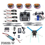JMT DIY Unassembly 2.4G 10ch RC Quadcopter Drone 500mm S500-PCB APM2.8 M8N GPS 2-Axle Gimbal RTF Full Kit Motor ESC