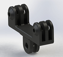 OEM Cheap Price New Double Dual Bracket Tripod Holder Handle with Screw Mount Adapter for Gopro Hero 4 / 3+ / 3 SJ4000