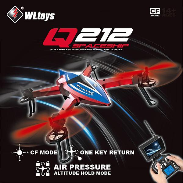 Wltoys Q212-G 2.4Ghz RC Drone CF Mode One Key Return 3D Roll FPV UAV RC Quadcopter RTF With 720P HD Camera Support WIFI