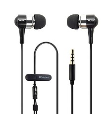 MOAO MP280 3.5mm Metal Bass with Microphone Ear Headphones Unit Fever Level Music Sound Headset for MP3 MP4