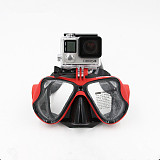 TELESIN Diving Glasses Dive Scuba Mask Mount Accessories For GOPRO3+/4/5 gopro4 5session SJ4000  Xiaomi yi Sports Actio