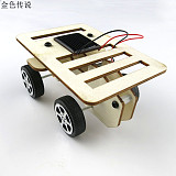 New arrival Self assembly DIY Mini Wooden Car Model Solar Powered Kit 4WD Smart Robot Car Chassis RC Toy 100*70*50mm
