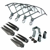 1 Set 8330F Foldable Propellers + Grey Props Guard + Extend Landing Gear Protector Spare Parts Bag for For DJI Mavic Pr