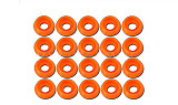Tarot 20 Pcs M3.0 Spacer Washer TL2820-02 Orange for GB Screws RC Helicopter Parts