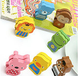 lovely Animal Pattern Wooden Name Card Holder Photo Clip Note Memo Stand For Home Office Supply Decoration