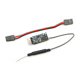 FD802 Mini FPV Receiver 8 channels with amplifier compatible with Frsky X9D for Tiny QX90 QX80 Micro Racing Quadcopter