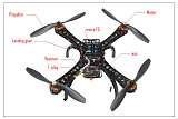 S500-PCB DIY GPS Drone Multi-Rotor Frame Full Kit APM2.8 AT10 TX&RX Motor ESC