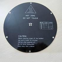 F10628 3D printer Delta Rostock Round Hot Bed MK3 Reprap Standard 3mm