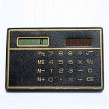 10pcs/lot Portable Ultra-thin Mini 8 Digits Solar Power Credit Card Style Calculator