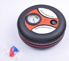 S00922 Portable Mini 12V Car Auto Tire Inflator Pump Electric Air Compressor by Cigarette Lighter Powered