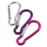 F06307 Mixed Carabiners Climbing Camp Keychains Clips Hooks 6x3cm Pack of 5 Pcs