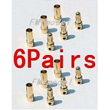 F00149-6 6Pairs Thick Gold Plated 3.5mm Bullet Connector ( banana plug ) For ESC battery