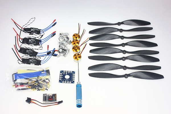 F02015-D 4 Axis Foldable Rack RC Quadcopter Kit with QQ Super Flight Control+1000KV Brushless Motor + 10x4.7 Propeller +