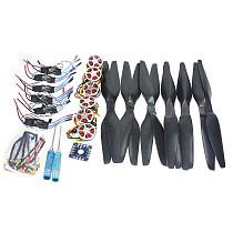 6-Axis Foldable Rack RC Helicopter Kit KK Control Board+750KV Brushless Disk Motor+15x5.5 Propeller+30A ESC