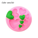F15231 Hot Love Heart Shape DIY Bakeware 3D Liquid Chocolate Fondant Cake Mold Cookies Moulds Silicone Sugar Craft Tool