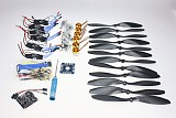 6 Axis Foldable Rack RC Quadcopter Kit with KK V2.3 Circuit Board +1000KV Brushless Motor + 10x4.7 Propeller + 30A ESC