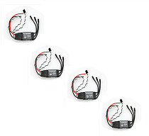 Hobbywing 4pcs XRotor 2-6S Lipo 40A /20A /10A Brushless ESC No BEC high refresh rate for Multi-axle aircraft copters
