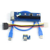 PCI-E 1X to 16X Extension Cable PCIE USB3.0 Mining Adapter Card Extension Cable for Transfer Card Graphics Card