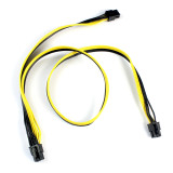 PCI-E PCIe PCI Express 6Pin male to Dual Double 2-Port 6+2Pin Male Adapter GPU Video Card Power Cable 18AWG