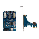Pci-e Express 1x to 3 Port Riser Card Mini ITX to External 3 PCI-E Slot Adapter PCIe Port Multiplier PCIE Express Card