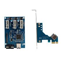Pci-e Express 1x to 3 Port Riser Card Mini ITX to External 3 PCI-E Slot Adapter PCIe Port Multiplier PCIE Express Card