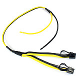 Dual PCI-e PCIe Graphics Video Card 8pin 6+2pin Splitter Power Cable Cord with Terminal for RIG Miner 12AWG+16AWG