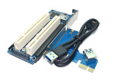 Desktop Pci-e to Double Pci Slot Expansion Card USB 3.0 to PCI Adapter Card PCI Add on Cards