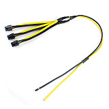 S7/S9 to Triple 3X PCI-E PCIe PCI Express 6Pin Graphics Card Splitter Power Cable Cord for BTC miner Machine 12AWG+18AWG