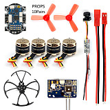 DIY RC Mini Racer FPV Drone kit with R6DSM/X9D/FS-X6B/RFASB Receiver 25mw 800TVL VTX+CAMERA 4in1 ESC F3 Flight Controller Motor