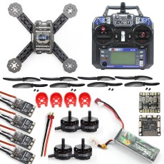 DIY Toys RC FPV Drone Mini Racer Quadcopter Kit 190mm SP Racing F3 Deluxe Flight Controller 2200mah Battery Flysky FS-I6