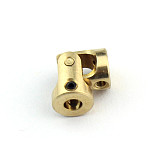 Brass Mini Cardan 3mm-3mm Counpling DIY Toy Accessories Universal joint for DIY Car Boat