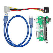 WBTUO PCIE X1 to PCIE X16 extension cable PCIE USB3.0 graphics extension cable