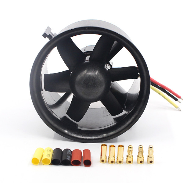 QX 70mm QF2822 3000KV Brushless Motor EDF Ducted 6-Rotor Fan Motor Balance Tested for Jet RC AirPlane