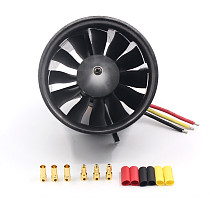 QX 70mm 12 Blades EDF Ducted Fan 4S Motor QF2827 2600KV Brushless Motor for Jet AirPlane