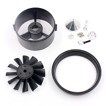 QX-MOTOR 64mm 12 Blades Ducted Fan EDF with Ducted Barrel Accessories for RC Drone Brushless Motor