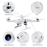 Flytec Navi T23 Brushless Double GPS 1080P HD Camera Drone 5.8G FPV Follow Me Fixed Point Circling Height Holding Quadcopter