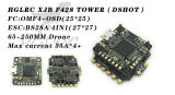 HGLRC Micro F4 Tower Flight Control XJB F428 DSHOT Flytower OSD BEC Flight Control & 28A Blheli_S 2-4S 4 In 1 ESC